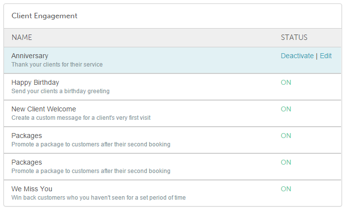 Go To Your Marketing Tab And Under Client Engagement Hover Over The Status Of Event You Want Edit